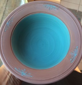 Sue's lovely blue bowl.