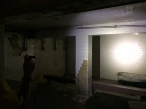 The prison shower room